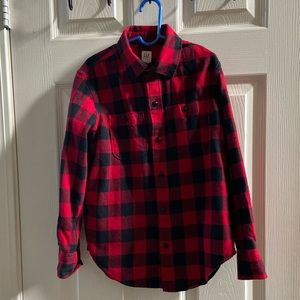 Boys Gap Flannel red and black checkers